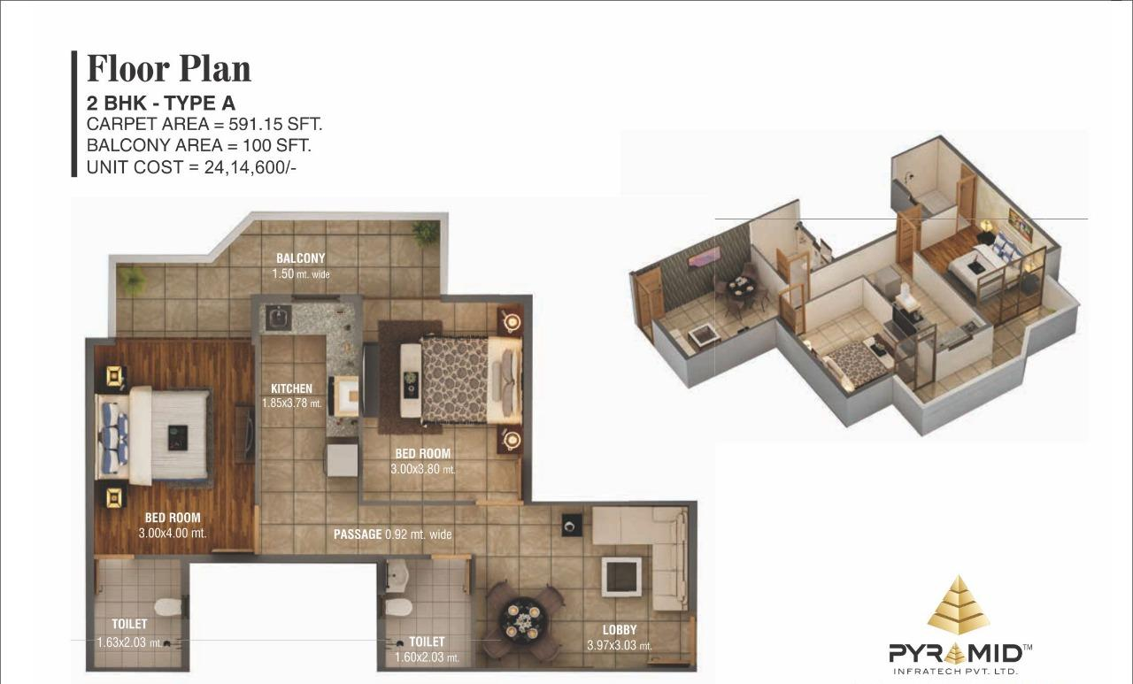 Floor Plan Type A affordable