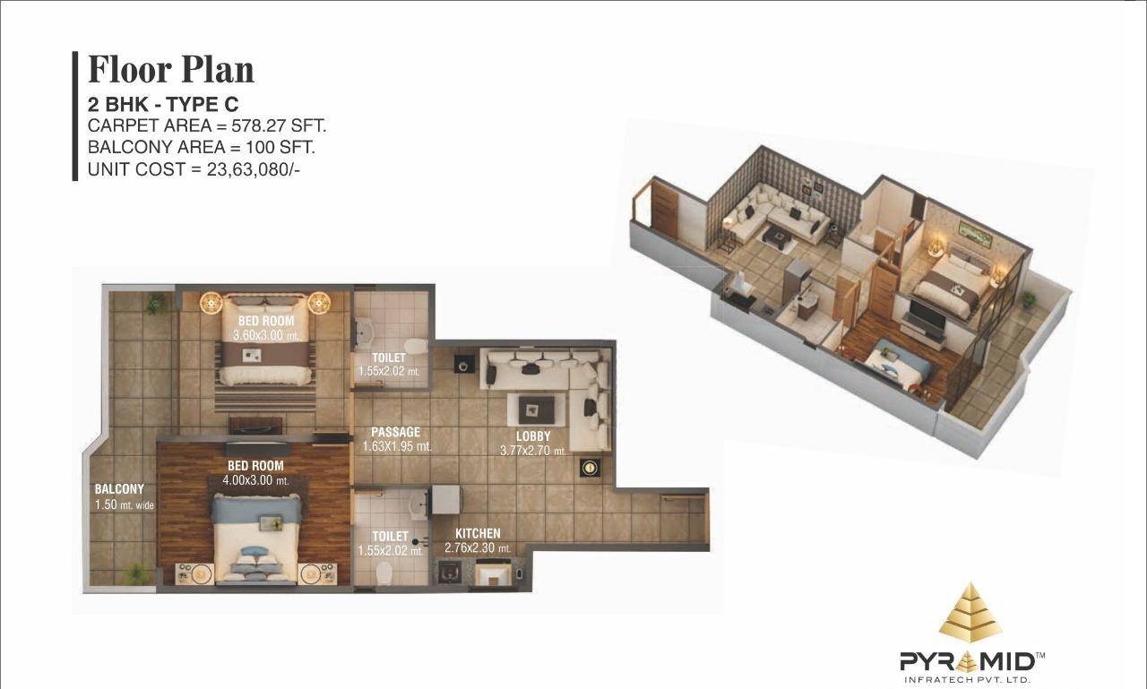 Pyramid Affordable Sector 59 Floor 59 Plan Type C affordable